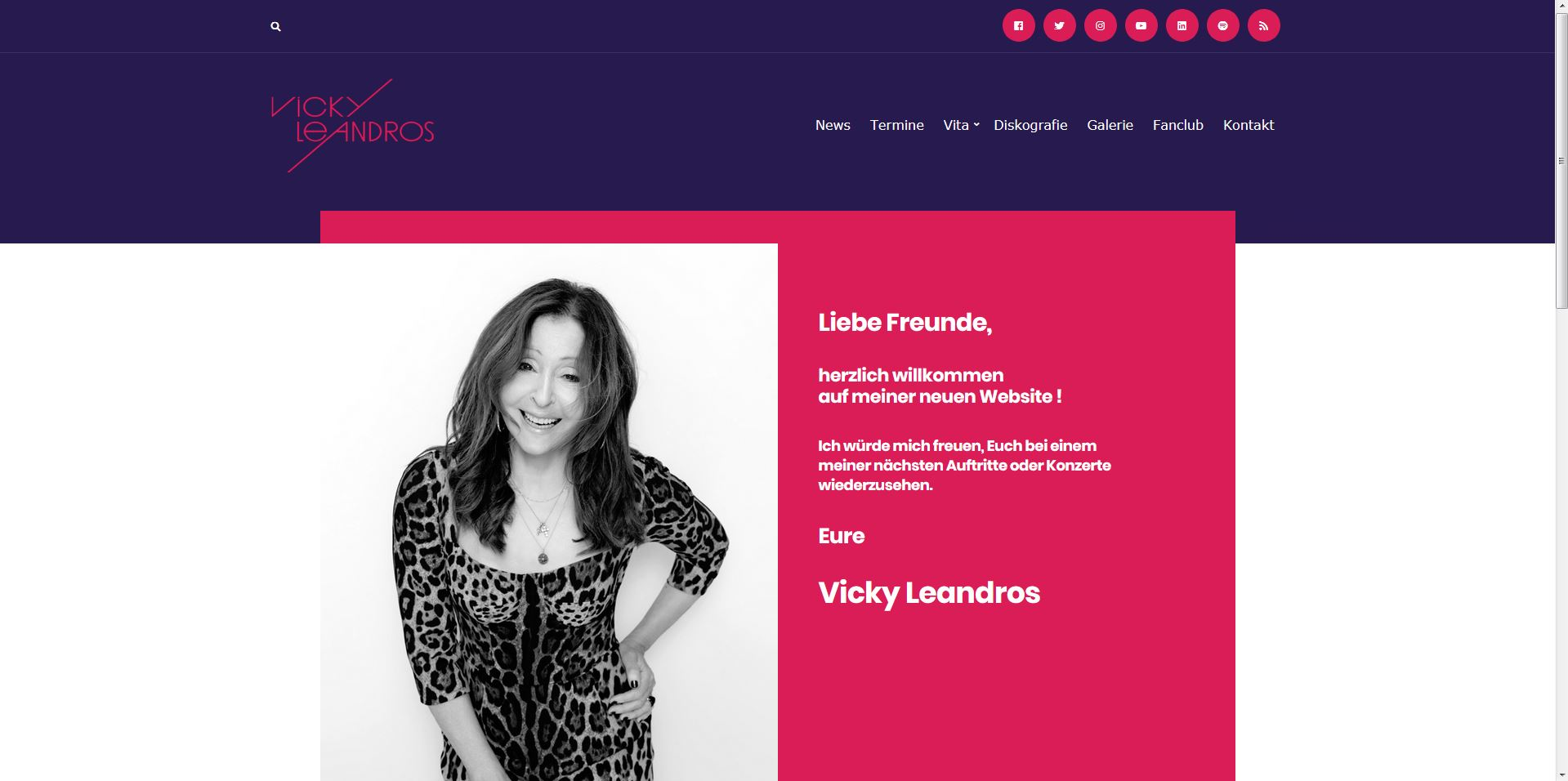 Vicky Leandros Homepage